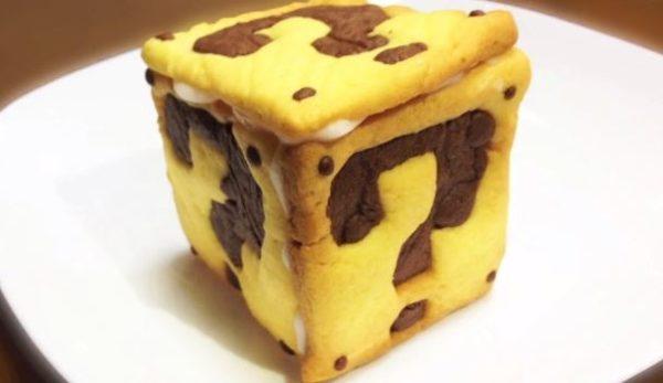 『スーパーマリオ』ハテナブロックのクッキーを作ってみた。中から出てきたスーパースターを食べたら無敵状態に!?