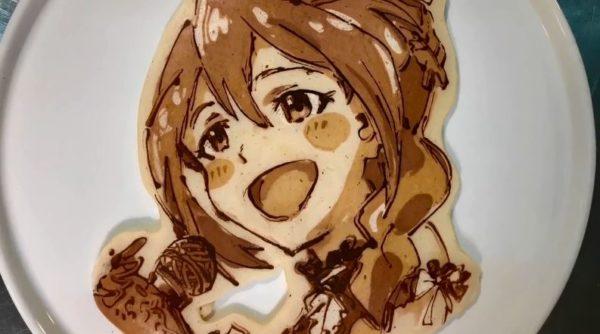 """『ミリシタ』のアイドルを次々と焼いてみた! パンケーキの""""絶妙な焼き加減""""で描いた表情に「最高かわいい」「この子たべたい」の声"""