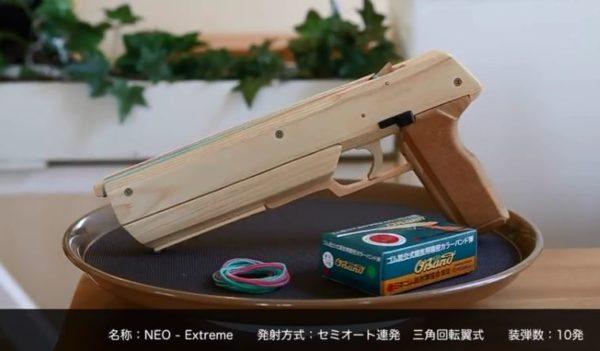 """""""10連発""""セミオートマチック「木製ゴム銃」が完成。その驚くべき命中率に「銃本体の精度とうp主の腕がやべぇ」「ロマンの塊やな」"""