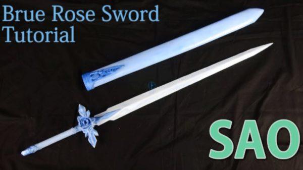 """『SAO アリシゼーション』ユージオの""""青薔薇の剣""""の作り方。丁寧な解説と共に完成した作品に思わず「想像してたより10倍はクオリティ高かった」"""