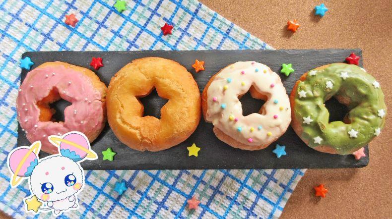 『スター☆トゥインクルプリキュア』スター☆ドーナツが近所に売ってない姪っ子の為に自作してみた。キレイな星形のきつね色ドーナツに「キラやば~!」
