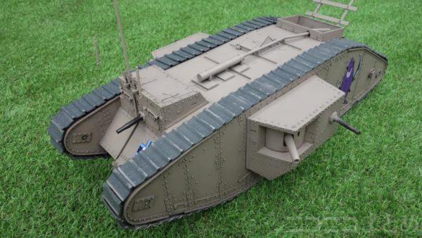 """『ガルパン』1/12サイズの""""マークⅣ戦車""""をフルスクラッチ! 起動輪の刃や履帯を金属で鋳造し、走行可能なラジコン戦車を作った猛者に「ガルパンおじさんの鑑」"""