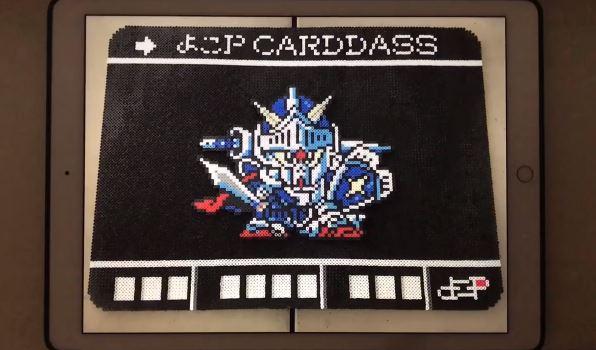 『SDガンダム外伝 ナイトガンダム物語』カードダスをアイロンビーズで作ってみた。その総数なんと83種類!
