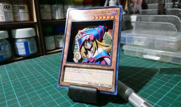 『遊☆戯☆王』ブラック・マジシャン・ガールのカードを立体化! シャドーボックスの技法で豊かな表情と奥行きを見事に演出