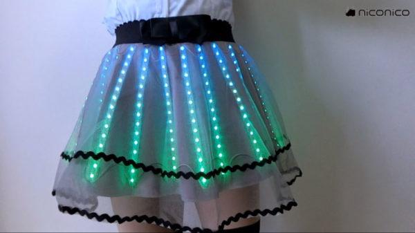 フルカラーで輝くLEDスカートがキラかわいい! 問題点はただひとつ「履いてくれる人がいない」こと