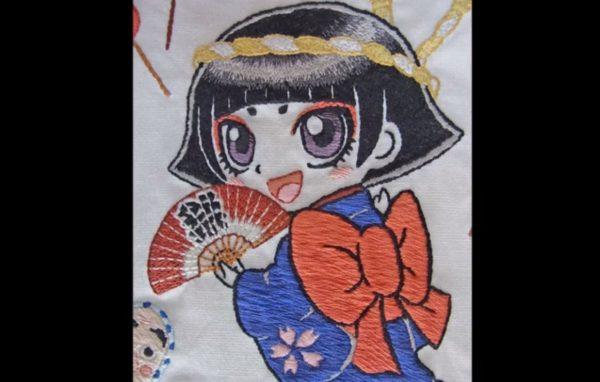 千葉県佐倉市のご当地キャラ『カムロちゃん』を祭り感あふれる刺繍にしてみた! 和のテイストが見事にマッチし「もはやアート」の声