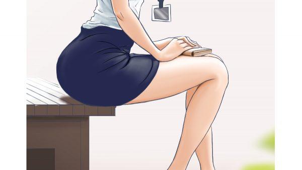 これ以上見つめちゃダメですよ♡ 『タイトスカート女子』のイラスト集