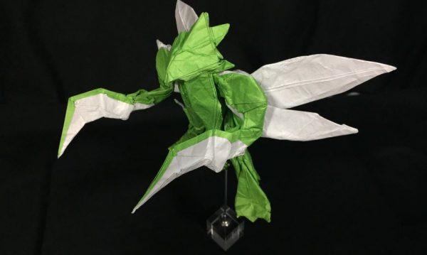 """これぞ折り神のカミ技! 『ポケモン』ストライクの""""折り紙""""がフィギュアのようなボリューム感で完成!"""