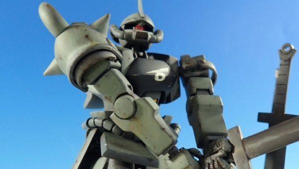 『機動戦士ガンダム バニシングマシン』グフのジオラマが完成! 撤退も投降もできない中、泥の海に突き立てたヒートサーベルに覚悟を感じる