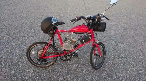 """ミニベロを改造して原付にしてみた! ナンバープレートを付けた""""元自転車""""が駆け抜けるさまに「本当の原付自転車だw」の声"""