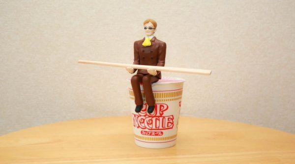 """「3分間箸を持ってやる!」ムスカ大佐の""""3分間待ってやる""""フィギュアを作ってみた"""