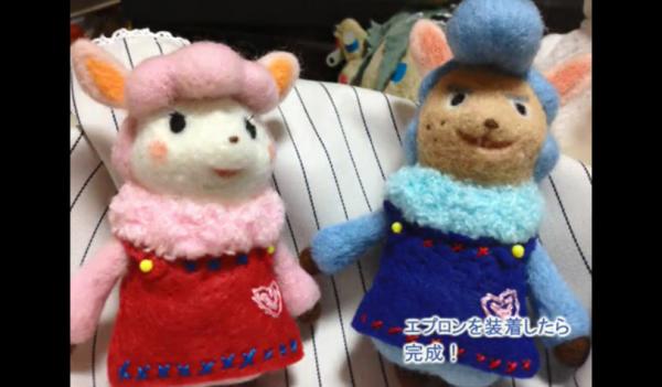 """『どうぶつの森』リサ&カイゾー夫婦を作ってみた。羊毛フェルトでアルパカの""""モコモコっぷり""""を再現!"""