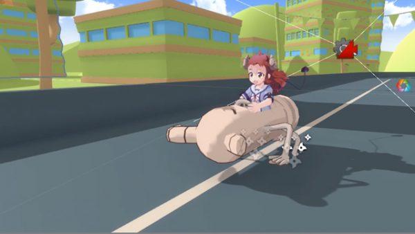 『まちカドまぞく』のキャラでマリオカートっぽいレースゲームを作ってみた!? その狂気の産物に「なんてものを造ってしまったんやw」と動揺の声
