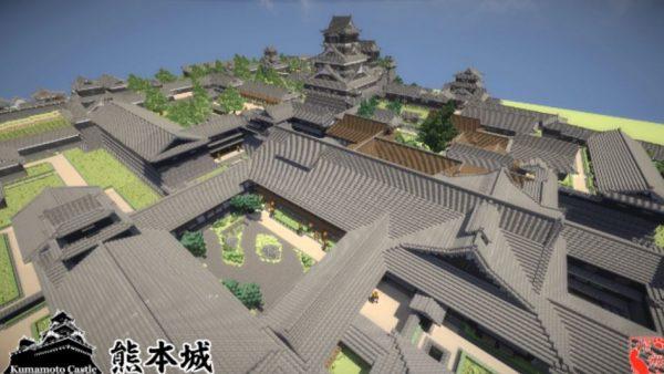 """マインクラフトで「熊本城」を再現してみた! """"内装の絵""""までこだわった圧倒的スケールの作品に「想像以上のボリューム」「眼福でした」の声"""