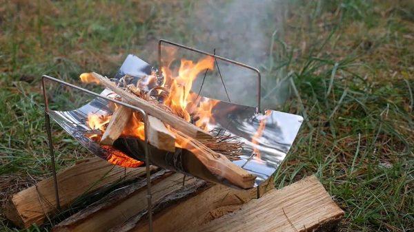 """ピコグリル風の焚き火台を自作してみた! """"A4サイズ""""とコンパクトに畳める構造に「よくできてるなー」「いいじゃん」の声"""