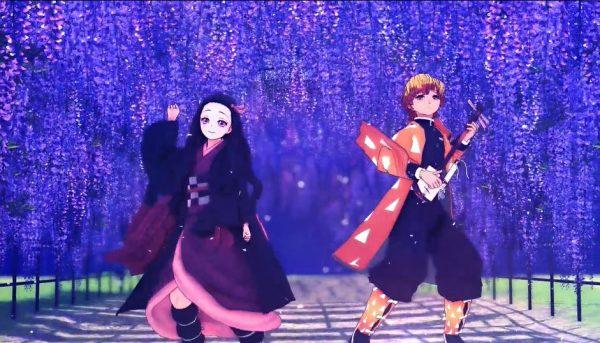 『鬼滅の刃』善逸と禰豆子が月明かりのもと華麗に舞う! 2人のお散歩ストーリーとキレのあるダンスが描かれて「どっちも可愛ええ」「最高です!」と歓声が