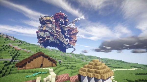 ジブリの世界をマイクラで再現! 『紅の豚』『となりのトトロ』『ハウルの動く城』と名作が次々登場し「これすげぇ!」「ポカーン」となる人続出
