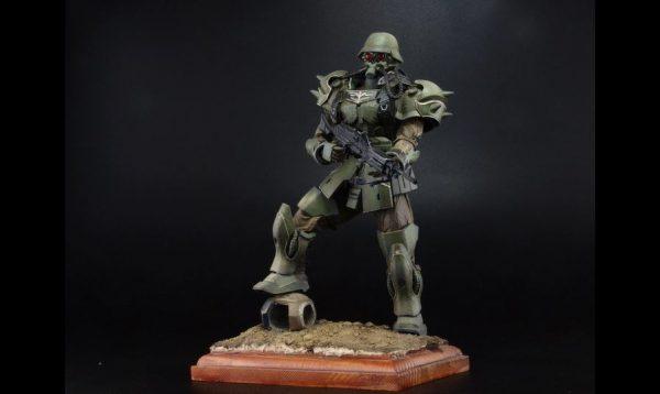 """『機動戦士ガンダムUC』ギラ・ズールを""""兵士""""として作ってみた! 対エコーズ装甲化人間兵が完成し「めちゃ好き、この造形」の声"""