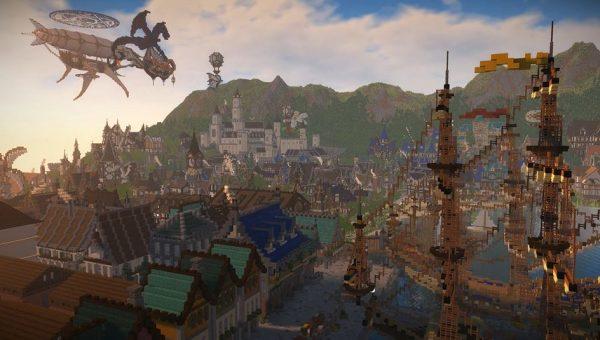 マイクラで「海港都市」が完成…総勢205人のクラフターが創り上げた西洋ファンタジーの世界に「規模がおかしいよ!(褒め言葉)」の声