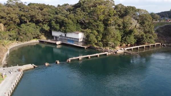 廃墟になった水族館をドローンで探索! 長崎県、西海橋水族館を空撮&水中撮影した映像に「時の流れを感じるなぁ…」