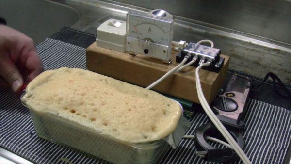 """生地を""""電流で""""焼く「電気パン」にチャレンジ! 感電した熱でむくむく膨らむパンに「おお焼けてる」「すごい」の声"""