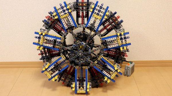 """戦闘機「零戦」や「隼」に搭載された""""星型エンジン""""をレゴで再現! 二重星型14気筒が滑らかに動き「こういうの好き」の声"""