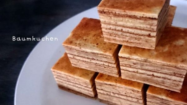 """""""フライパンで""""作るバウムクーヘンのレシピをご紹介…重ねた層も美しく「作ります!」「おしゃれ可愛い」の声"""