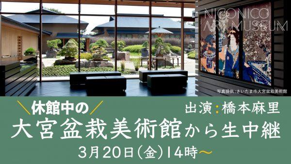 日本で唯一の盆栽専門公立美術館より『春の花もの盆栽展』を解説付き生中継でお届け!@大宮盆栽美術館【ニコニコ美術館】