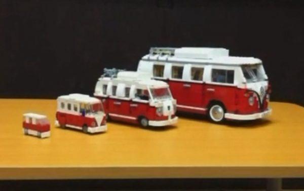"""レゴで""""4種類""""のフォルクスワーゲンを並べてみた! 14幅、8幅、4幅、2幅…サイズごとの魅力ある乗車スタイルに「かわいい」「和むw」の声"""