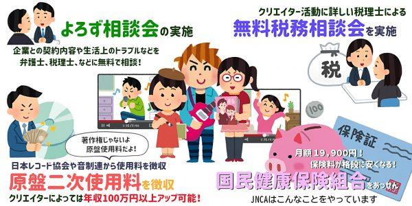 ネットで活動する全クリエイター必見! 収益増加や節税テクなどお得な情報について日本ネットクリエイター協会(JNCA)が解説【ニコニコネット超会議2020】