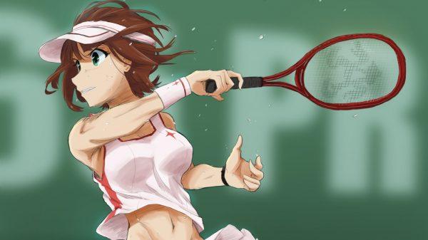 なびく髪、たぎる汗! 『テニスウェアの女子』イラスト集