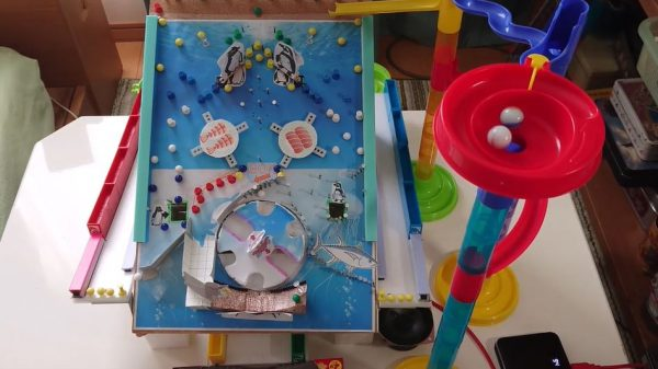 電子工作でパチンコ作ってみた! 海をテーマに本格的な機構を備えた作品へ「良く出来てる」「手作り感すこ」の声