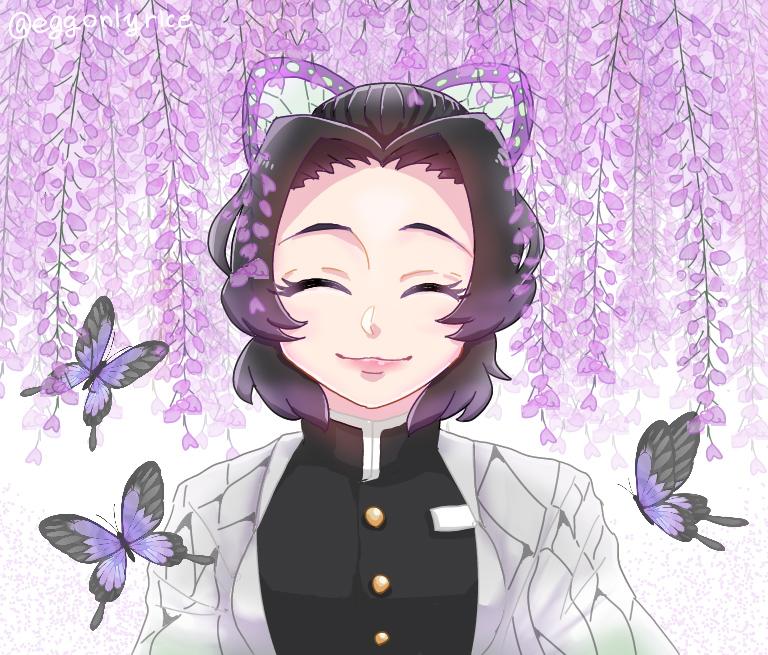 イラストミニキャラ 胡蝶 しのぶ