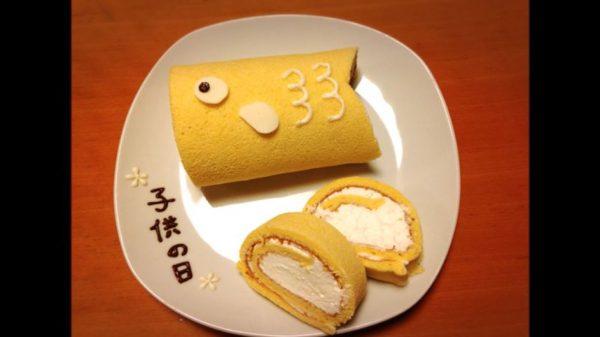 子供の日にぴったりの「こいのぼりロールケーキ」の作り方…たっぷりクリームのレシピに「美味しそう」の声