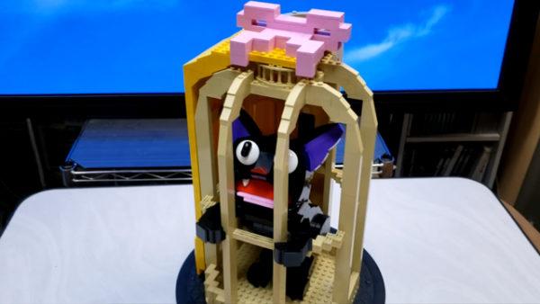 レゴブロックで『魔女の宅急便』ジジを作ってみた! 籠の中のジジを可愛く再現