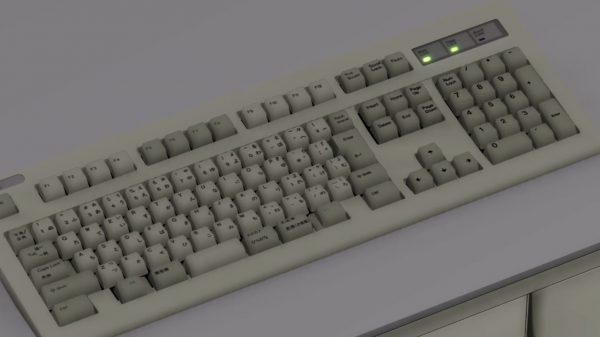 """""""キーボードをクラッシュする""""CGアニメを作るぞ! 3DCG動画作成ツール""""MMD""""で使えるキーボードの3Dモデルが完成"""
