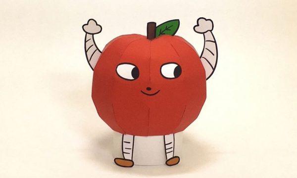 """『デレマス』辻野あかりの「りんごろうさん」を""""紙で""""作ってみた…? 「たべるんご♪」と歌いそうなペーパークラフトに「なぜベストを尽くした」の声"""