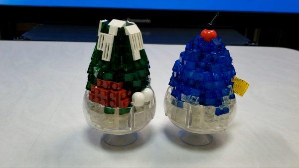 レゴで「かき氷」を作ってみた! ミルク宇治金時&ブルーハワイを透明パーツで表現、ちょこんとのった白玉の正体はヘルメット