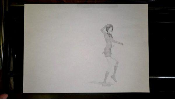 手描きに見えるCGアニメがすごい! 『刀剣乱舞』薬研藤四郎の鉛筆画がパラパラ漫画ふうに踊る動画をMMDで制作