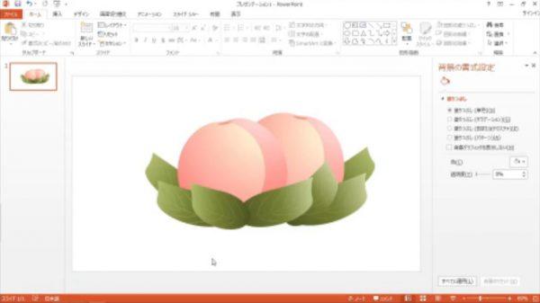 """パワーポイントで描かれた""""桃""""のイラストの完成度が高すぎる…! パワポ絵師がメイキングを全公開"""