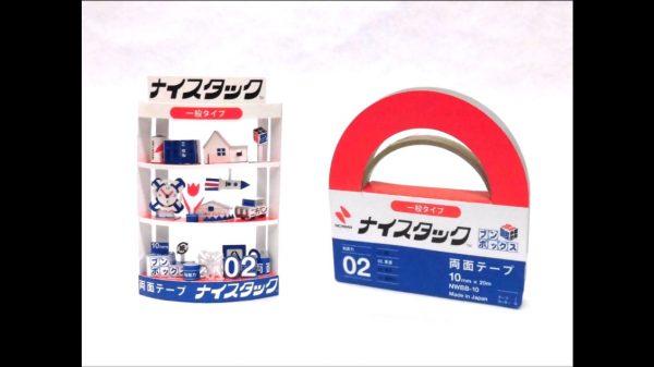 両面テープのケースで作った棚がかわいいかよ! たった1個のパッケージから飾る小物まで生み出す発想があざやか
