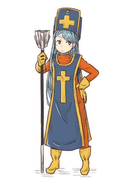 『ドラゴンクエスト3』女僧侶のイラスト詰め合わせ 青い帽子に黄色の十字架が特徴的!
