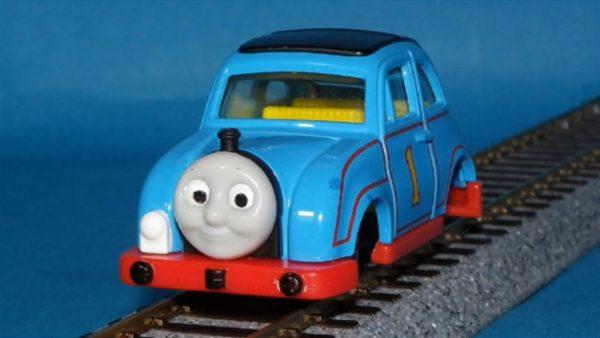 車or機関車? 『きかんしゃトーマス』トミカのトーマスカーを線路で走れるように改良してみた!?