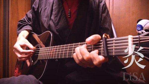 劇場版『鬼滅の刃』主題歌『炎』をアコギで弾いてみた! 最強のソロギタリストおさむらいさんが初級者向けにアレンジ