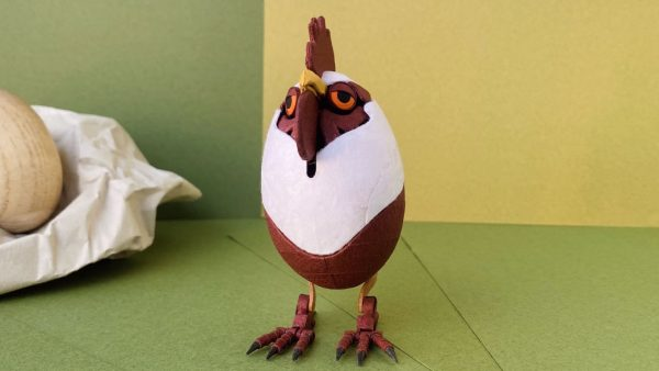 """""""ニワトリの紙工作""""が神クオリティ! ぼぉーとしたり怒ったり…表情を変えられる驚異のメカニズムに「なぜ鶏にそこまでの情熱を注いだんだ…」の声"""