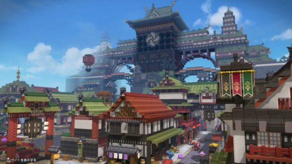 『ドラクエビルダーズ2』で『FF14』を作ってみた! ドラクエのキャラが歩く壮大な和風の街「クガネ」の完成度に「すごいわ本当」「ワクワク」の声