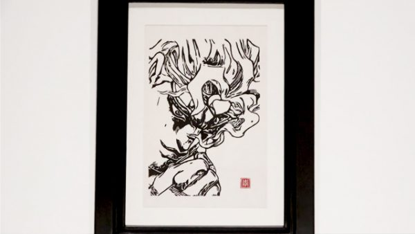 版画ならではの迫力! 『ジョジョの奇妙な冒険』ディオ・ブランドーの木版画を作ってみた