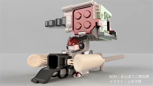 『東北きりたん』型のビーダマンを作ってみた! ロマン砲てんこ盛りの設計に「ワクワク感がやばい」「この設計データ欲しいなぁ」の声