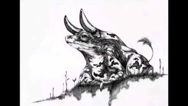 ボールペンだけでウシガエルを描いてみた! 美術品級の画力で描いた牛柄のカエルに「ちがう、そうじゃない」「しっぽwww」の声