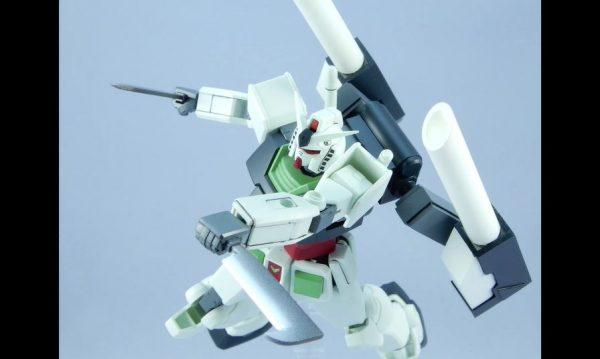 """EGガンダムを""""東北きりたん仕様""""に改造! 鉈ときりたん砲で戦う姿に「かっこいい」「白い通り魔」の声"""
